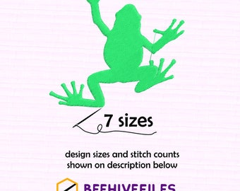 SALE! Frog 7 sizes  Embroidery files