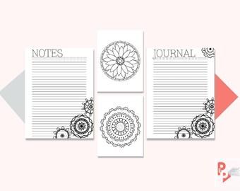 NOTES BUNDLE Happy Planner Printable Inserts, Create 365, Happy Planner Insert, Happy Planner Classic, MAMBI Planner, Instant Download