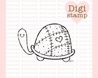 Pequeña tortuga sello Digital - sellos de tortuga Digital - Tortugarte Stamp - sello del bebé - Tortuga - Tortuga tarjeta - fuente de bebé artesanal