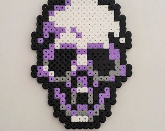 Skull pixel art beading beads