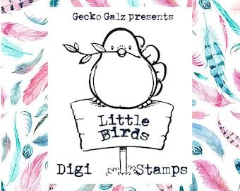 Little Birds Digital Stamp Set