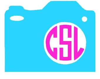 Camera Monogram Frame dxf and svg for use with silhouette cameo