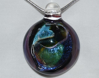 Heady Glass Dichro Pendant - Hand Blown Dichroic Glass Jewelry -