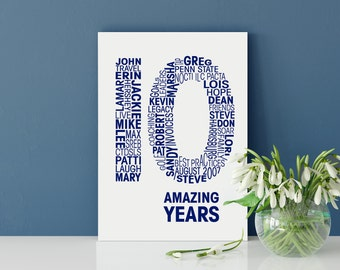 Wedding Anniversary Personalised Card - Anniversary Personalized Cards - Anniversary Card for Husband - Anniversary Card for Wife