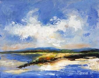 Seascape painting, original  painting, Boba painting, Seascape art
