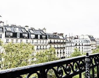 Balcony Photography - Paris Rooftops - Paris Photography - Wall Art Print - Paris Decor - Fine Art Photography  - Mini Eiffel - 0029