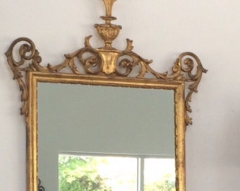 Vintage Hollywood Regency Gold Gilt Mirror