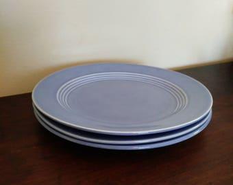 Vintage Mid-century Homer Laughlin Harlequin Mauve Blue Bread and Butter or Dessert Plates - Set of 3