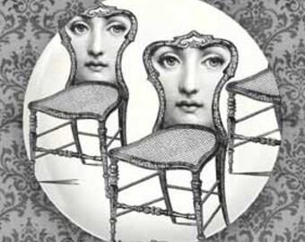 Seated I Cavalieri plate