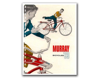 Vintage Bicycling Art Retro Bike Poster (H233)