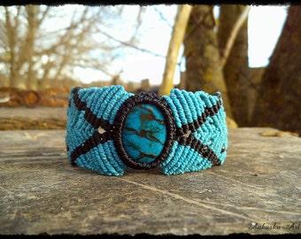 Macrium Bracelet/upper bracelet with River Stone