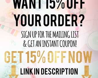 SAVE 15% OFF today!