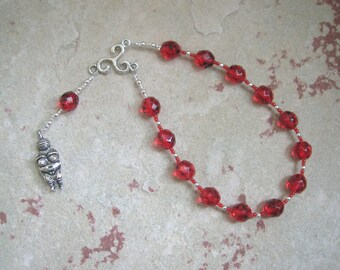Goddess Prayer Beads with Mother/Fertility Goddess Pendant