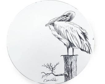 White Southern Pelican Platter