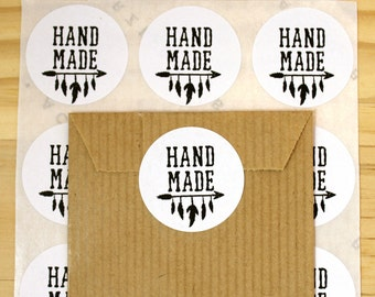Handmade gift label, Seal stickers, Round gift stickers, Packaging Stickers, Gift packaging