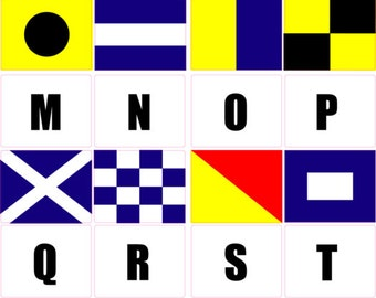 "Nautical flags of your choice 2"" x 2.5"""