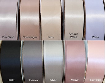 "Satin Ribbon By The Yard - 1.5"" Double Sides Satin Ribbon - High Quality Ribbon - DIY Bridal Sash"