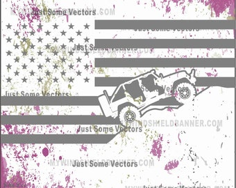 4 door tj yj  jeep wrangler usa flag style  vector files svg cdr eps pdf png dxf use for decals crafts tshirts vinyl cutting cutter