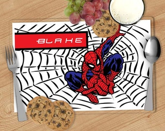 Spiderman Kids Personalized Placemat, Customized Placemats for kids, Kids Placemat, Personalized Kids Gift