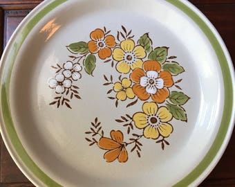 Country Casual Spring Garden Large 12in Platter Serving Plate