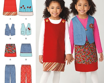 Simplicity 1568 Child's Jumper, Vest, Pants and Skirt