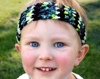 Toddler Boy Band / Boy Hairband / Crochet Headband for Boys / Unisex Child Headband / Handmade Headband / Gifts for boys / Boy Accessories