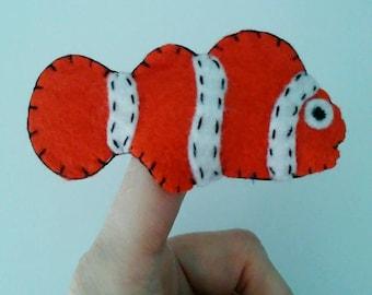 Clownfish finger puppet