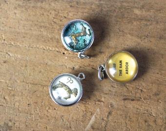 Zodiac Charms • Vintage Zodiac Charm •  Astrology Charm • Astrology Jewelry • Pewter Zodiac Charms • Vintage Silver Charms • Zodiac Jewelry
