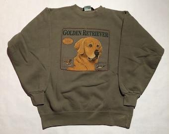 Vintage Golden Retriever Crew Neck Sweatshirt