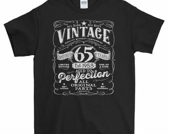 65th Birthday in 2018, 1953 Shirt, 1953 Legend, Men's T-Shirt, 65th Birthday Gift, 65th Birthday Present, 65 Years Old, Est 1953 VIN-65-1953
