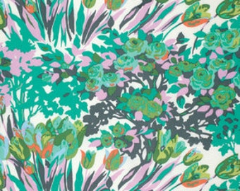 Meadow Blooms in Turquoise, Violette Collection by Amy Butler, LAST 38 Inches