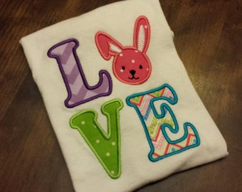 Easter Love Embroidery Shirt