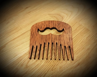 Wooden Beard And Moustache Comb