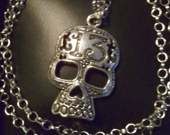 Necklace on a skull theme
