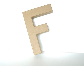 """Paper Mache Letter F (12"""" tall) - Ready to Decorate Blank Letter, Home Decor, and more"""