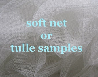 Tulle or net sample- this listing is for one sample
