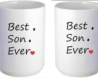Best Son Ever Mug, Personalized Coffee Mug, Personalized Gift, Custom Mug, Gift for son, Birthday Gift, Stocking Stuffer, Coffee Mug