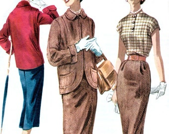 McCall's 3363 sewing pattern // Misses' Two Piece Suit and Blouse