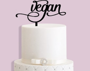 Vegan Cake Topper