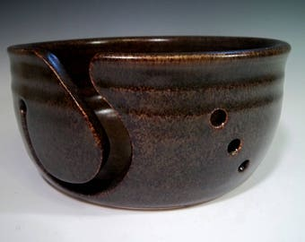 Large Pottery Yarn Bowl / Knitting and Crochet / Handmade Stoneware Ceramic / Unique Gift Idea / Gift for Mom / Knit Projects / Yarn Storage