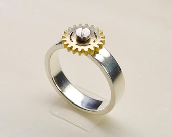 Gear Ring1 Rotating Steampunk