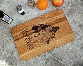 Star Wars Cutting Board Wedding couple gift Personalized  cutting board Star Wars gift Valentines gifts for him Gifts for men Gifts for Dad