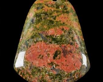 Natural Unakite pendant  bead ( #J1018)