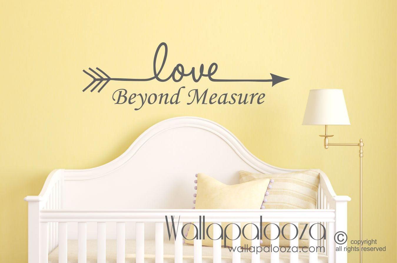 Love Wall Decal Nursery Wall Decal Love Beyond Measure