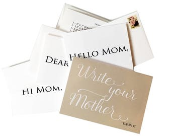 Write Your Mother Note Card Set