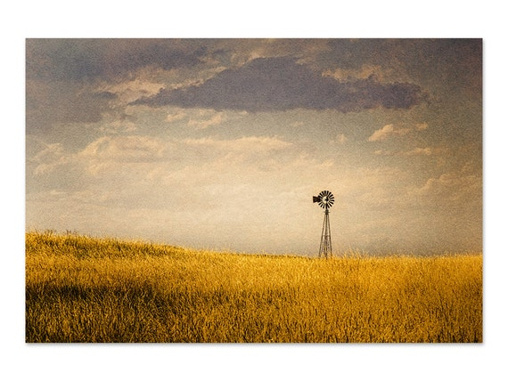 Windmill Photography Farmhouse Decor Rustic Wall Decor