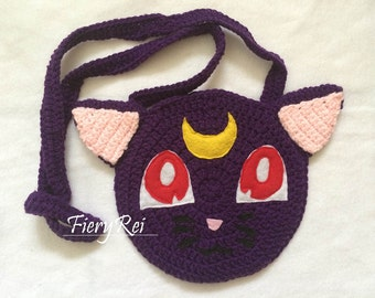 Sailor Moon Luna Crochet Purse