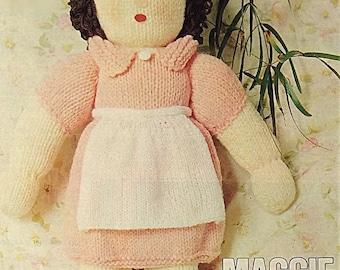 Vintage Knitted Doll Pattern. PDF.