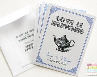 LOVE is BREWING Par-Tea™ Favors - #Wedding #Bridal #Tea #Favors