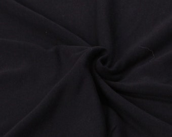 Cotton Lycra Spandex Knit Jersey Fabric by the yard 10oz - Black (S1)
